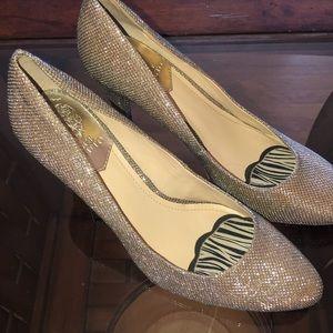 Vince Camuto silver sparkle heels, SZ 8